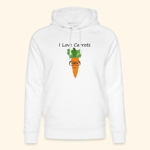 Love Carrots - Sudadera con capucha ecológica unisex de Stanley & Stella