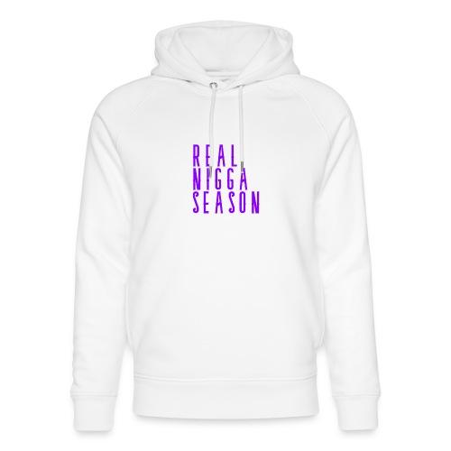 real nigga season paars - Uniseks bio-hoodie van Stanley & Stella