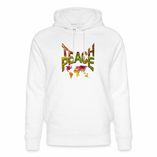 Teach Peace - Unisex Organic Hoodie by Stanley & Stella