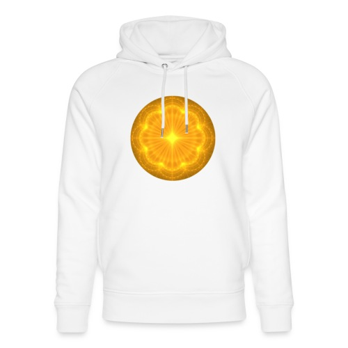 Golden Radiance Mandala Heart - Uniseks bio-hoodie van Stanley & Stella
