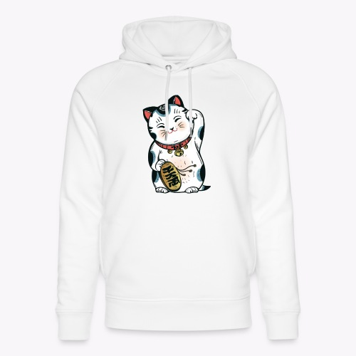 The Lucky Cat - Unisex Organic Hoodie by Stanley & Stella