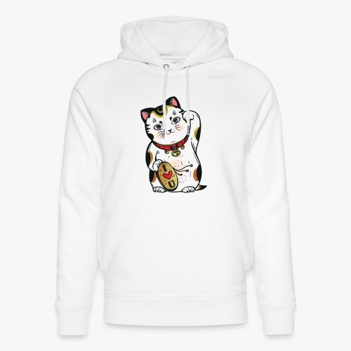 Love Lucky Cat - Unisex Organic Hoodie by Stanley & Stella