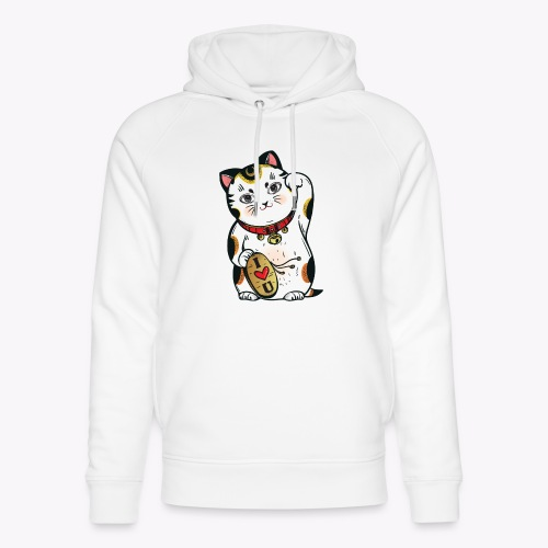 Love Lucky Cat - Unisex Organic Hoodie by Stanley & Stella