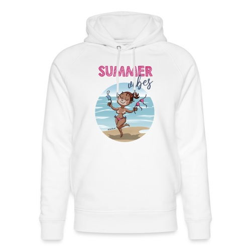 SUMMER vibes - Sudadera con capucha ecológica unisex de Stanley & Stella