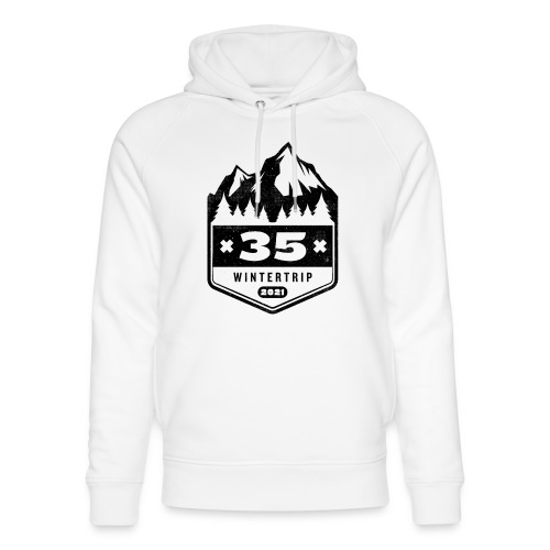 35 ✕ WINTERTRIP ✕ 2021 • BLACK - Uniseks bio-hoodie van Stanley & Stella