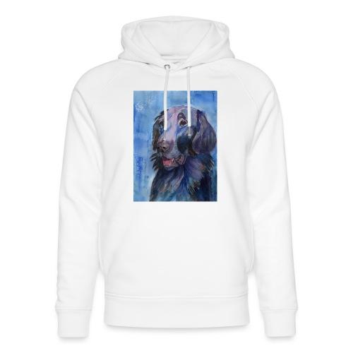flatcoated retriever - watercolor - Stanley & Stella unisex hoodie af økologisk bomuld
