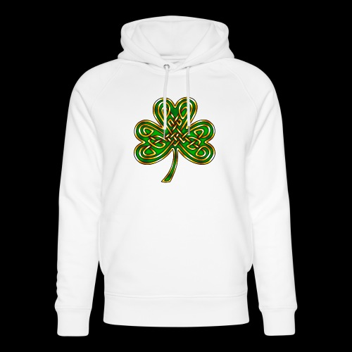 Celtic Knotwork Shamrock - Unisex Organic Hoodie by Stanley & Stella