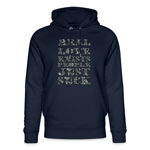 Real Love Exists REBEL INC. - Ekologiczna bluza z kapturem typu unisex Stanley & Stella