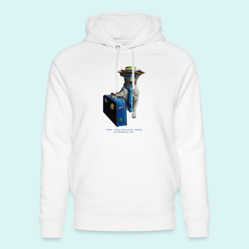 The Traveling Dog - Unisex Organic Hoodie by Stanley & Stella