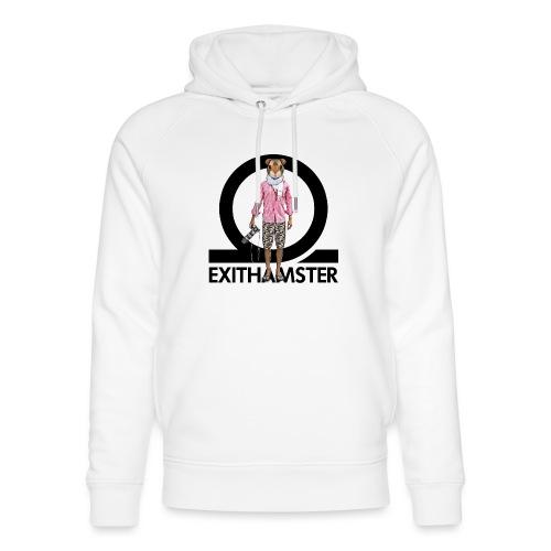 EXITHAMSTER LOGO WHITE BG - Unisex Organic Hoodie by Stanley & Stella