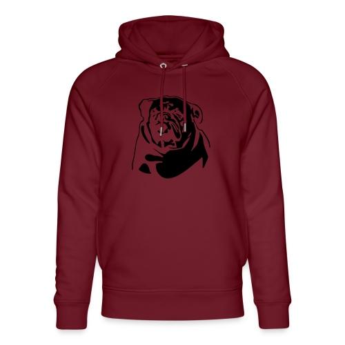 English Bulldog - negative - Stanley & Stellan unisex-luomuhuppari
