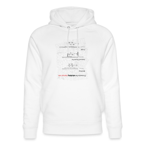Formulas for calculating steps-per-mm (upturned). - Unisex Organic Hoodie by Stanley & Stella
