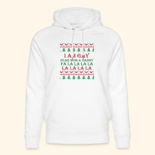 Gay Christmas sweater r+g - Ekologiczna bluza z kapturem typu unisex Stanley & Stella
