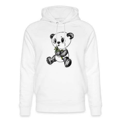Panda bjørn farvet scribblesirii - Stanley & Stella unisex hoodie af økologisk bomuld