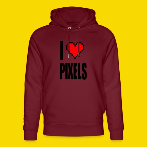 I Love Pixels - Ekologiczna bluza z kapturem typu unisex Stanley & Stella