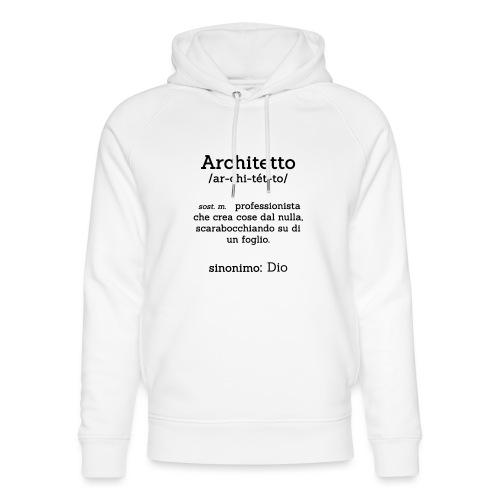 Architetto definizione - Sinonimo Dio - nero - Felpa con cappuccio ecologica unisex di Stanley & Stella