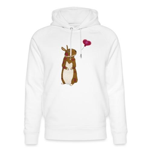 Valentine bunny - Unisex Organic Hoodie by Stanley & Stella