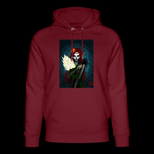 Death and lillies - Unisex Organic Hoodie by Stanley & Stella