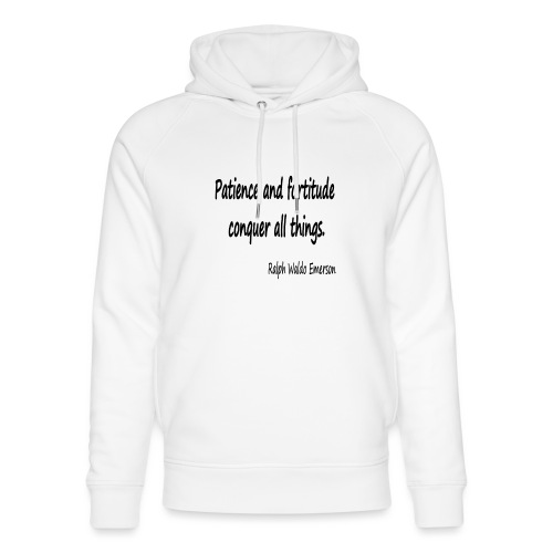 Peace and Patience - Unisex Organic Hoodie by Stanley & Stella