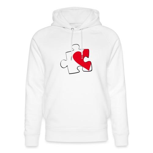 HEART 2 HEART HER - Felpa con cappuccio ecologica unisex di Stanley & Stella