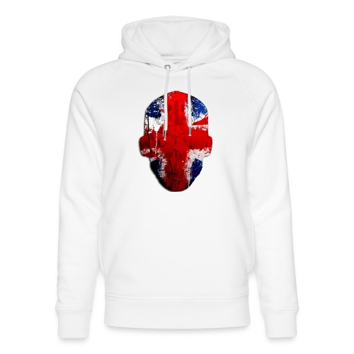Borg recordings uk Union flag MetaSkull T Shirt - Unisex Organic Hoodie by Stanley & Stella