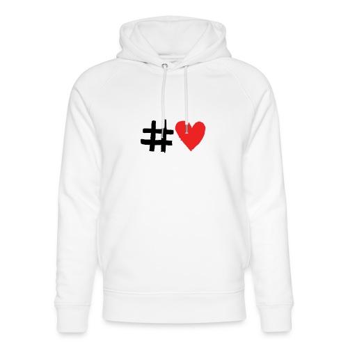 #Love - Stanley & Stella unisex hoodie af økologisk bomuld