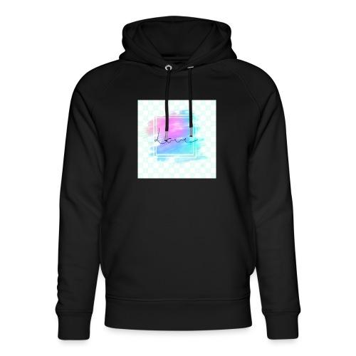 Paint - Love - Stanley & Stella unisex hoodie af økologisk bomuld