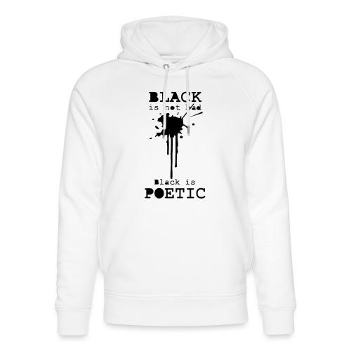 black is poetic - Sweat à capuche bio Stanley & Stella unisexe