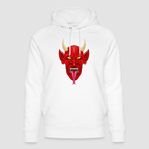 Devils Face Satans Army - Unisex Organic Hoodie by Stanley & Stella