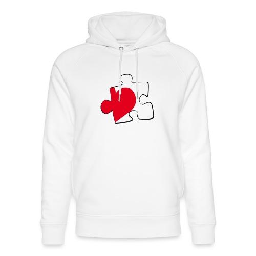 HEART 2 HEART HIS - Felpa con cappuccio ecologica unisex di Stanley & Stella