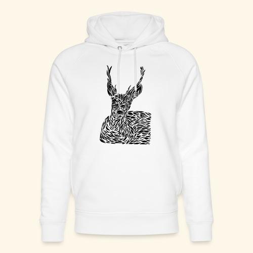 deer black and white - Stanley & Stellan unisex-luomuhuppari