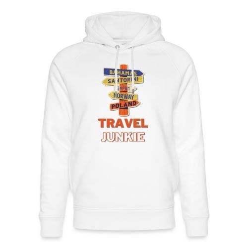 traveljunkie - i like to travel - Unisex Bio-Hoodie von Stanley & Stella