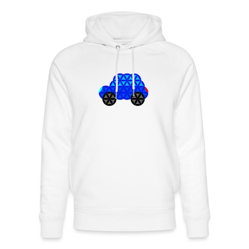 The Car Of Life - M01, Sacred Shapes, Blue/R01. - Unisex Organic Hoodie by Stanley & Stella