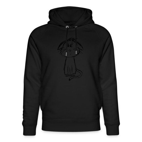 Kissa Kissanpentu musta scribblesirii - Stanley & Stellan unisex-luomuhuppari