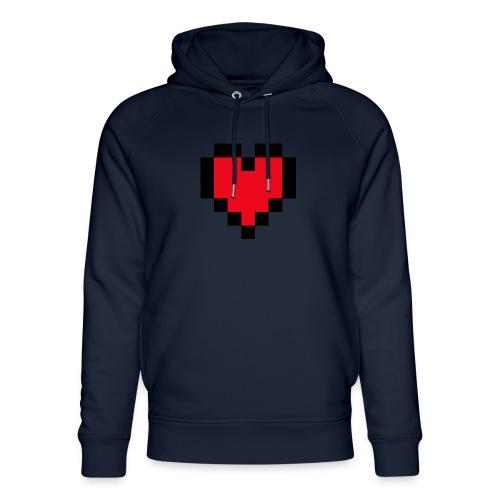 Pixel Heart - Uniseks bio-hoodie van Stanley & Stella