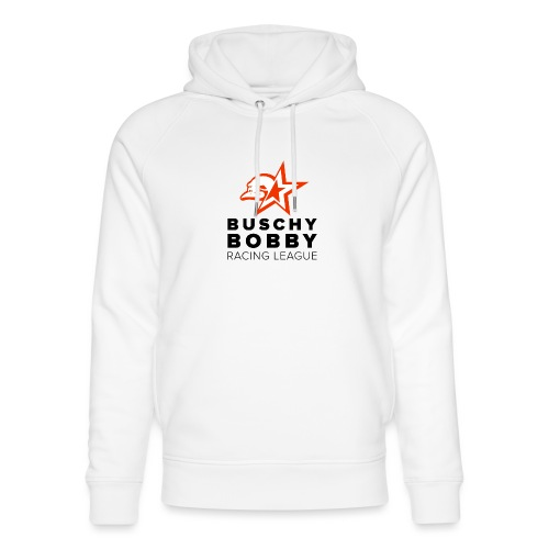 Buschy Bobby Racing League on white - Unisex Organic Hoodie by Stanley & Stella