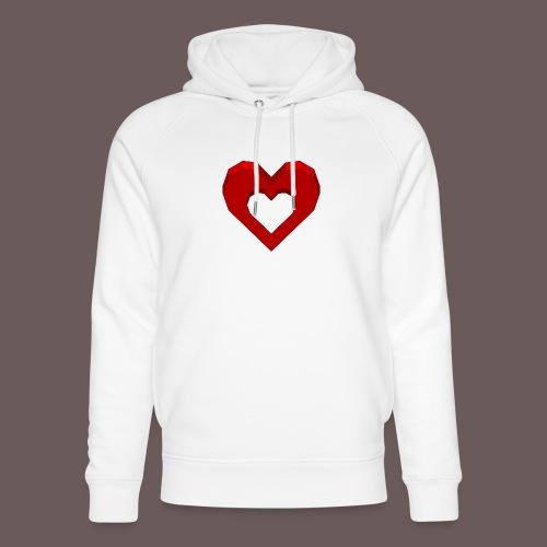 Heart Illusion - Stanley & Stella unisex hoodie af økologisk bomuld