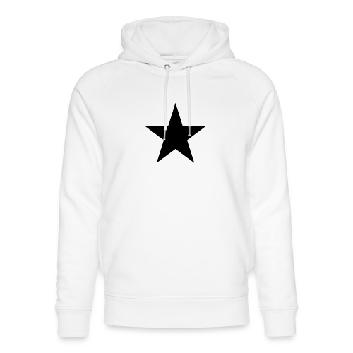 Ardrossan St.Pauli Black Star - Unisex Organic Hoodie by Stanley & Stella