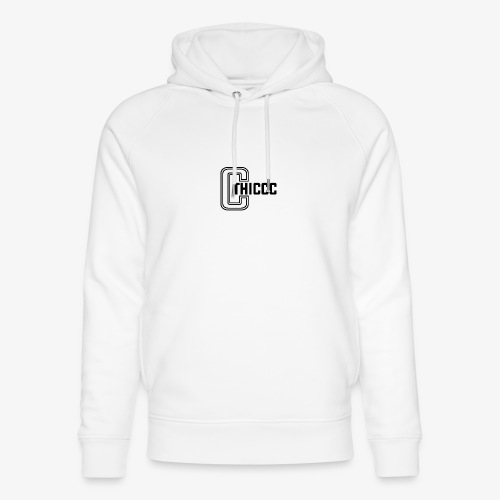 thiccc logo White - Unisex Organic Hoodie by Stanley & Stella