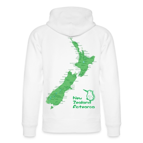 New Zealand's Map - Unisex Organic Hoodie by Stanley & Stella