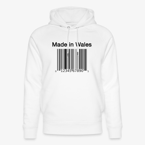 Made in Wales - Unisex Organic Hoodie by Stanley & Stella