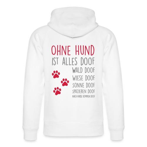 Vorschau: Ohne Hund ist alles doof - Unisex Bio-Hoodie von Stanley & Stella
