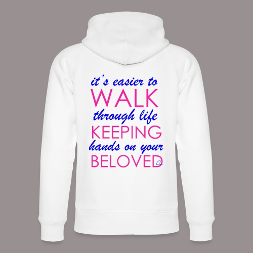 it's easier to walk through life... - Stanley & Stellan unisex-luomuhuppari