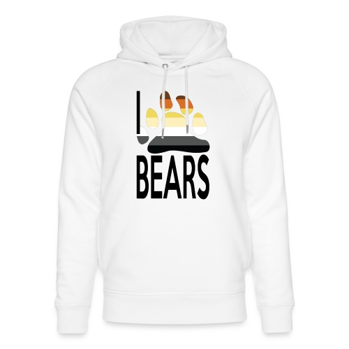 I love bears - Sweat à capuche bio Stanley & Stella unisexe