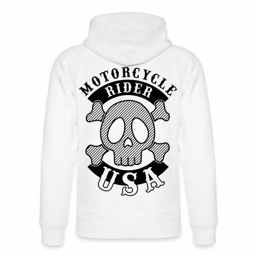 Motorcycle Rider USA - Sweat à capuche bio Stanley & Stella unisexe