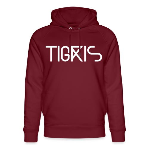 Tigris Vector Text White - Unisex Organic Hoodie by Stanley & Stella