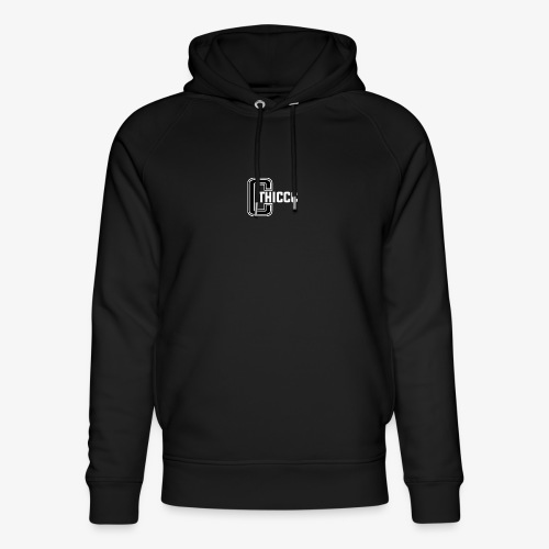 thiccc logo Black and White - Unisex Organic Hoodie by Stanley & Stella