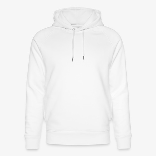 thiccc text logo WHITE - Unisex Organic Hoodie by Stanley & Stella