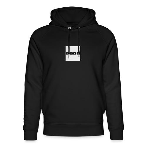 black-rewind-play-pause-forward-t-shirts_design - Uniseks bio-hoodie van Stanley & Stella