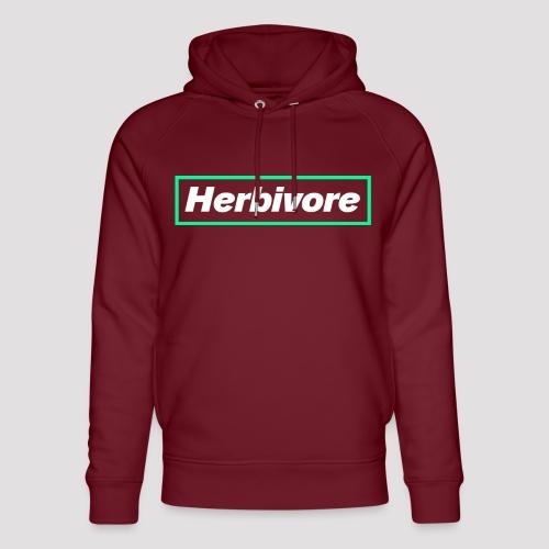 Herbivore Logo White - Felpa con cappuccio ecologica unisex di Stanley & Stella